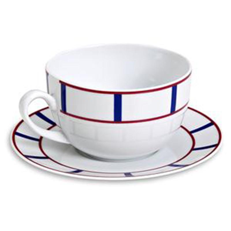 Tasse déjeuner décor basque
