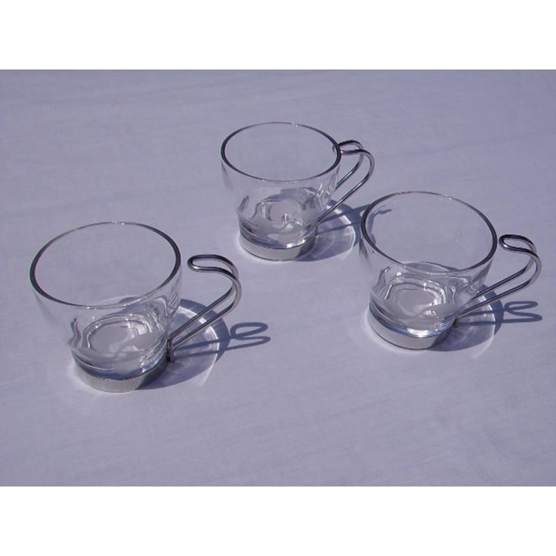 Tasses à café avec la croix basque gravée