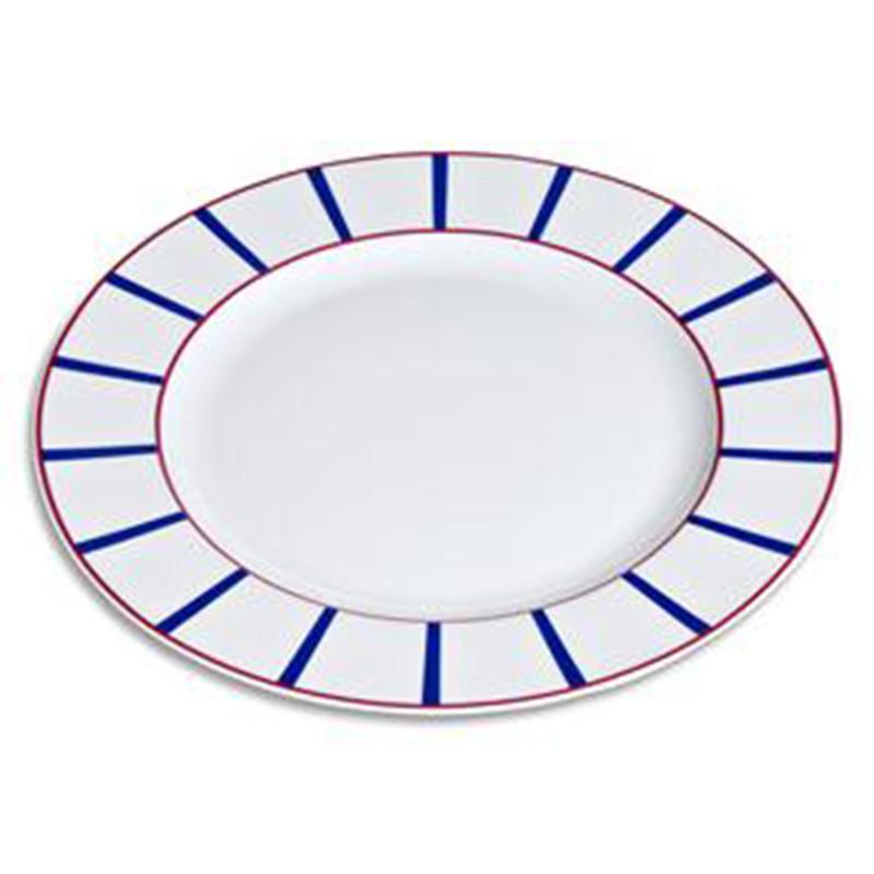 Plat rond basque en porcelaine