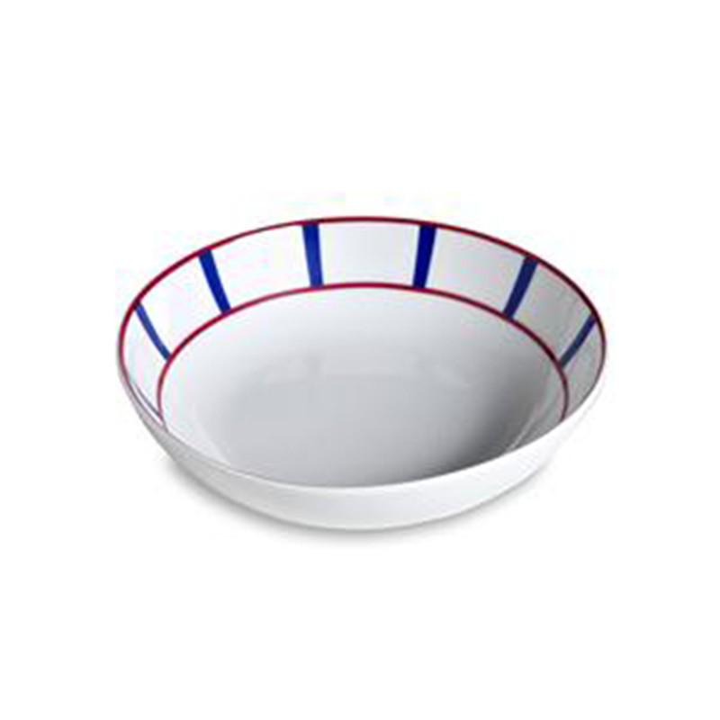 Assiette creuse en porcelaine décor basque