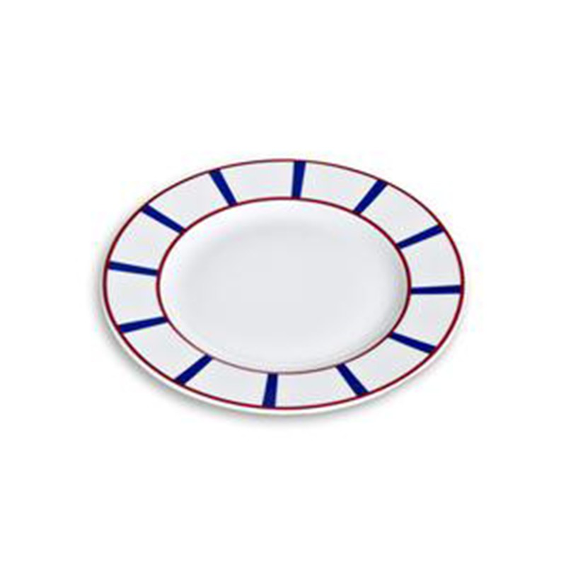 Assiette à dessert en porcelaine décor basque
