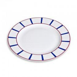Assiette plate en porcelaine décor basque