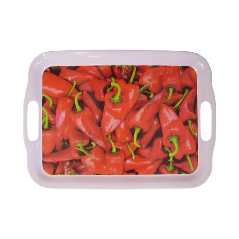 Plateau piments rouges