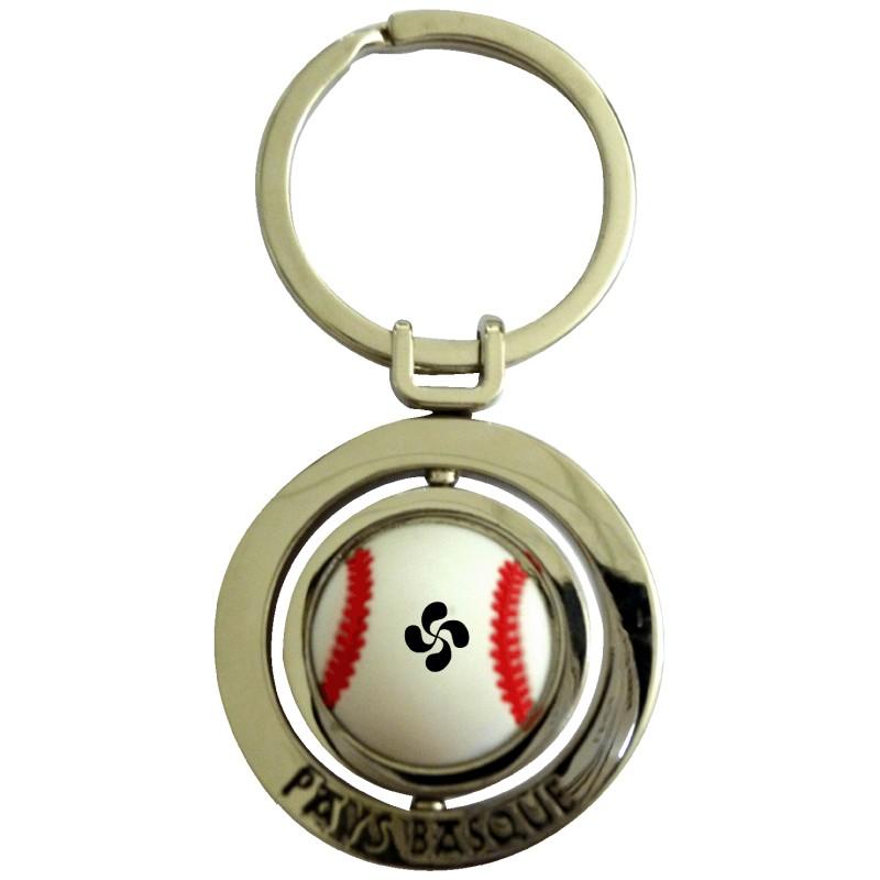 Porte clé en métal pelote