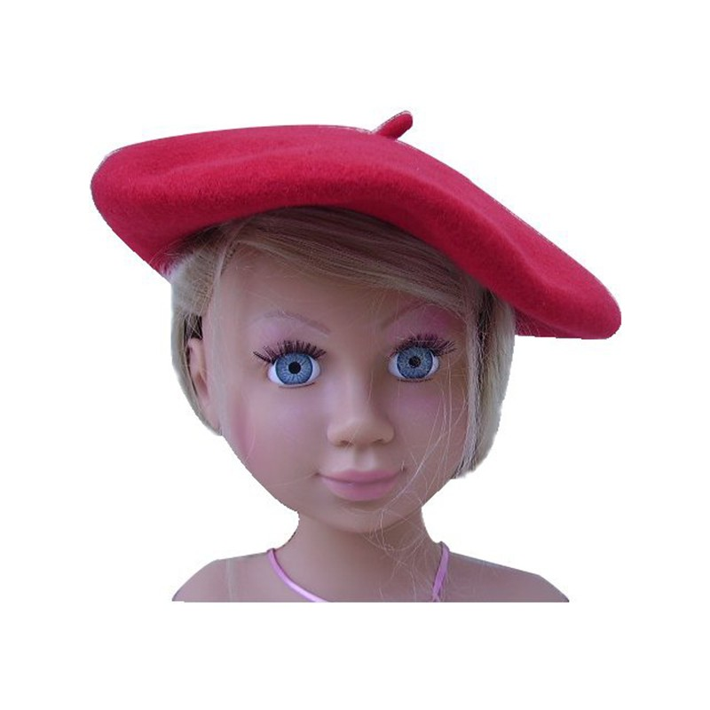 Béret rouge enfant