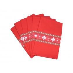 six serviettes de table rouge. Black Bedroom Furniture Sets. Home Design Ideas