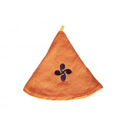 Essuie mains basque rond orange