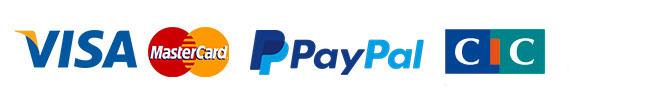 Paiement sécurisé par Visa, Mastercard, PayPal